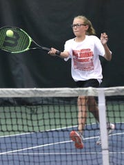 Malaina Wolfe reached the girls 12 finals in the 85th News Journal/Richland Bank Tennis Tournament after just picking up the sport a year ago.