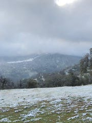 A cold front brought snow to the Tulare County foothills