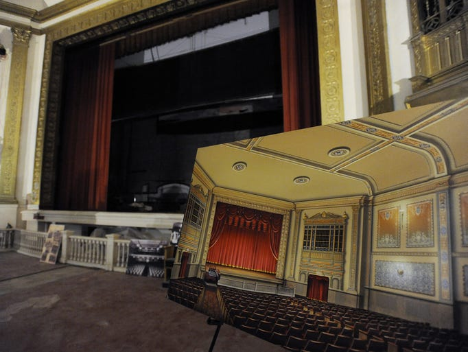 Artist rendering of the State Theatre sitting inside