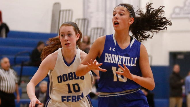 Bronxville defeats Dobbs Ferry 54-50 in varsity girls basketball action at Dobbs Ferry High School on Tuesday, December 20, 2016.