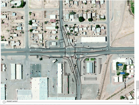 This illustration shows the City of Alamogordo's plan