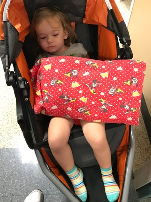 Isabella was a little groggy when she came out of her sedation, but the good news was the results of her MRI were as good as could be expected.