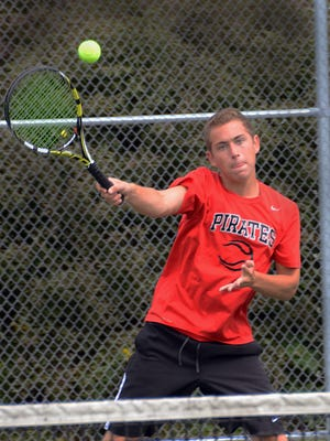 Pinckney's Nick Romano is believed to be the first Pirate ever to qualify for the Division 2 state tennis meet. He was a runner-up at No. 1 singles.