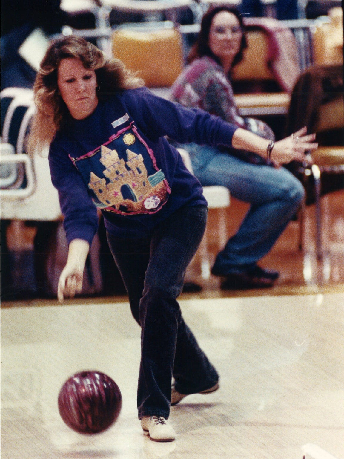 Laura Tate of the Corpus Christi Women's Bowling Association,