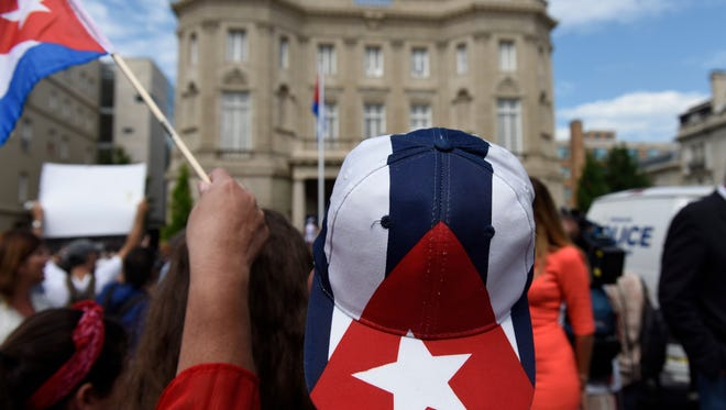 Following formal restoration of diplomatic relations between Cuba and the United States, the Embassy of Cuba officially re-opened in Washington, D.C. The opening was marked by a flag-raising ceremony.