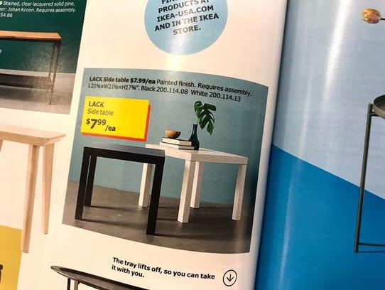 Ikea's Lack table.