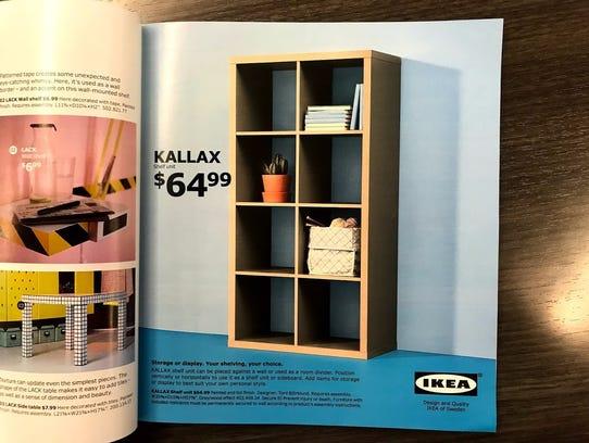 Kallax shelf.
