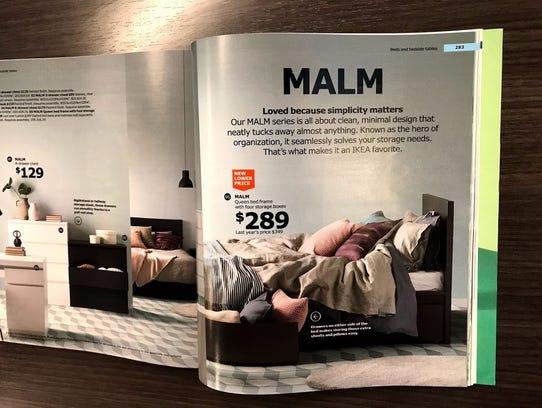The malm bedframe.