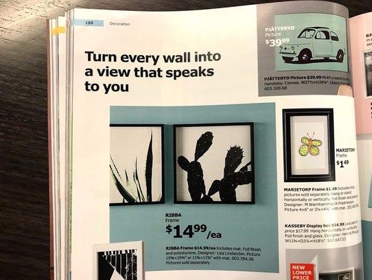 Ikea's Ribba frames.