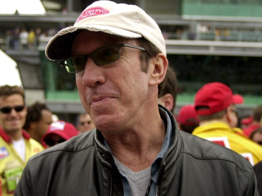 """Home Improvement"" star Tim Allen shown before the start of the 85th Indianapolis 500 in 2001."
