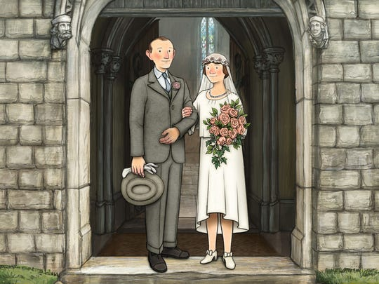 A still image from the animated film Ethel and Ernest by director Roger Mainwood.