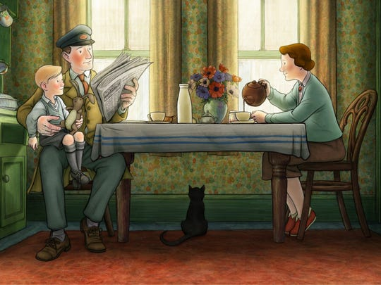 A still photo from the animated film Ethel and Ernest by director Roger Mainwood.