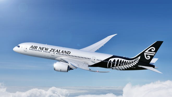 An image of an Air New Zealand Boeing 787-9 Dreamliner.