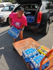 water was a hot commodity at Home Depot. Brevard residents