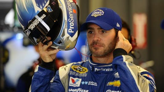 Jimmie Johnson said on Sunday, July 19, 2015 at New Hampshire that he isn't concerned about not yet having a new contract with Hendrick Motorsports.