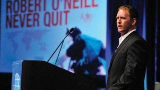 Robert O'Neill spoke at the Greater Green Bay Chamber's annual dinner in October.