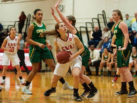 BFA St. Albans vs. CVU Girls Basketball 01/22/15