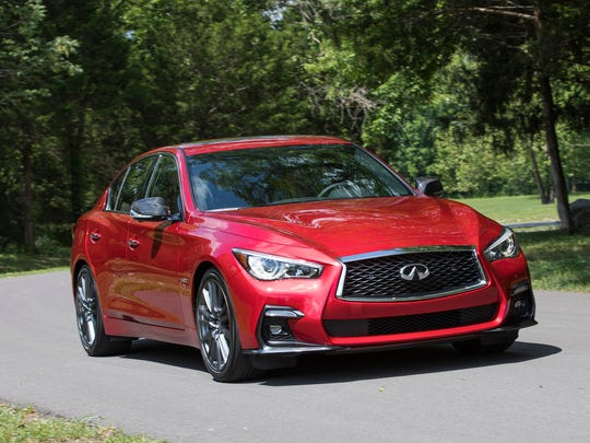 The 2018 Infiniti Q50, a luxury sedan that has a significant discount going into Memorial Day weekend. Though it's not as polished as some rivals, the Q50 is stylish and desirable all the same.