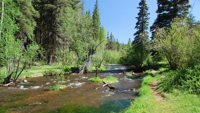 It's true: You have to go to the West Fork of the Little Colorado to find the start of the East Fork Trail.