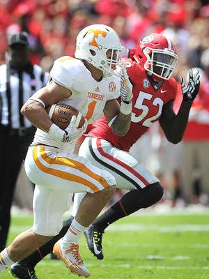 Tennessee running back Jalen Hurd missed practice Tuesday.