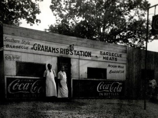 Located in Springfield, a few blocks from Route 66, Graham's Rib Station was popular with African-American residents and travelers.   Photo courtesy of the Lederer Collection, Missouri State University