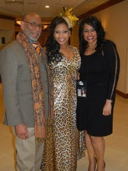 Imani with her parents, Elbert Lee and Marie Yvonne.