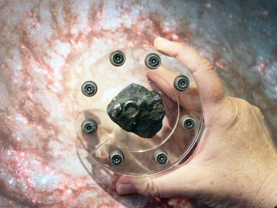 This Martian meteorite will soon be on display at Calusa