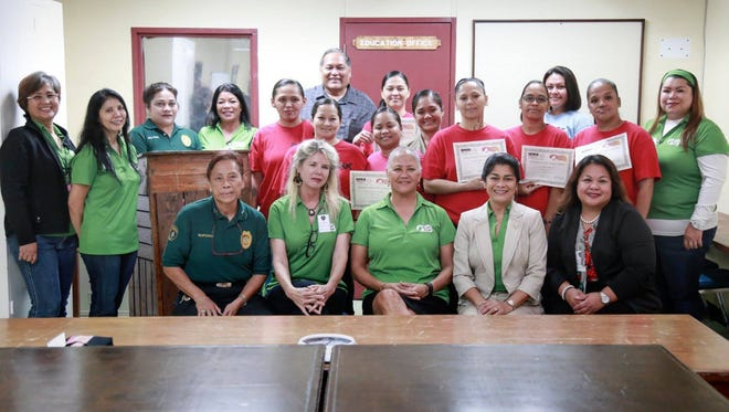 The Guam Department of Corrections celebrated the first graduating class from the Fu'una Rising group program June 7.