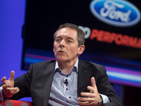 Steven Armstrong, COO Ford of Europe, during a panel
