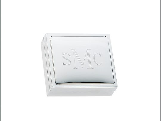 Engravable silver-plated jewelry boxes