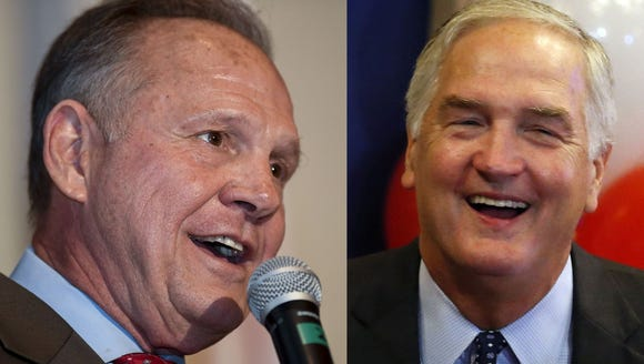 Roy Moore and Luther Strange