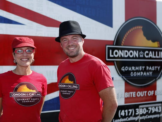 Carrie Mitchell and Neil Gomme own London Calling food