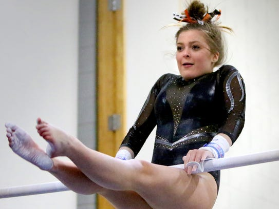 Grafton/Cedarburg's Caleigh Mentzer competes in the