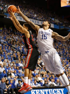 Forward Willie Cauley-Stein and Kentucky are 23-0 on the season, with only a couple of close calls.
