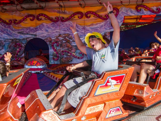 A ride during the 2013 Champlain Valley Fair on Aug. 24.