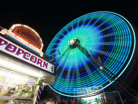 The first night of the 2013 Champlain Valley Fair.