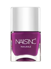 This product image released by Nails Inc. shows a bottle of Gloucester Walk Nailkale polish. Kale is making its way into beauty products with a boost from its popularity as a healthy green and juice. (AP Photo/Nails Inc.)