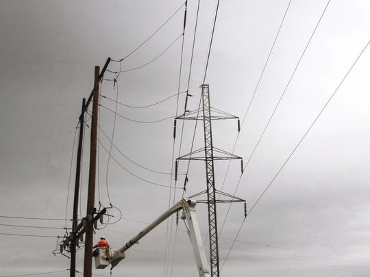Louisiana has faced several rounds of severe weather this spring. Last week, Ken Sutherland a senior lineman for Entergy works to restore power to residents in Concordia and Tensas Parish, in Ferriday, La., after severe storms.