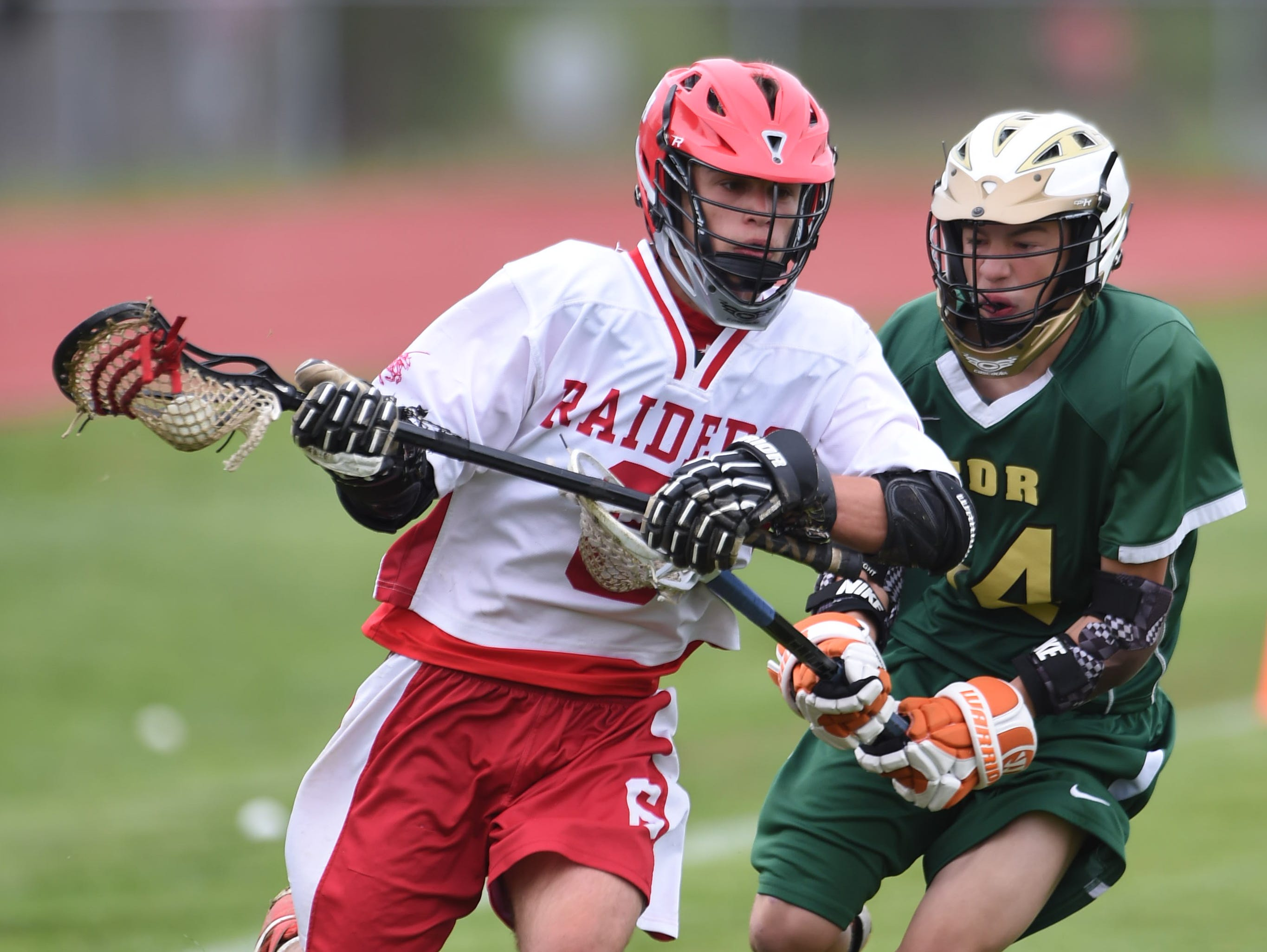 Red Hook's Owen Sagerman breaks from FDR's Griffin Pelish during Tuesday's game at Red Hok.