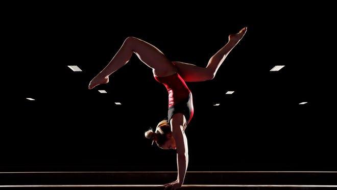MyKayla Skinner of Gilbert, Ariz., trains at Desert Lights Gymnastics in Chandler.