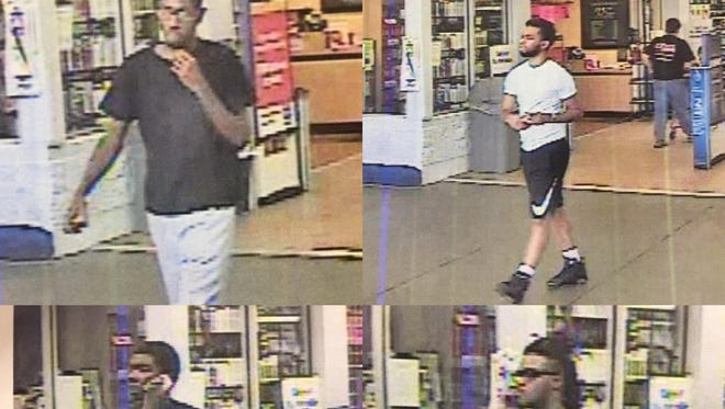 These suspects are being sought by police in connection with a counterfeit money ring.