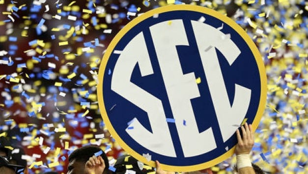 The SEC doesn't have a representative in the national title game for the first time in nine seasons.