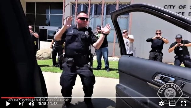 The Santa Paula Police Department has joined the In My Feelings Challenge.
