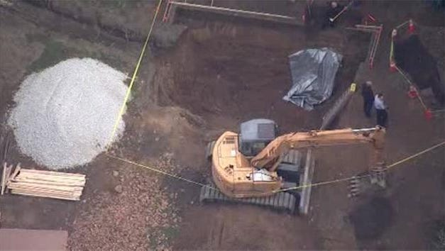 Authorities are on the scene in Riverton this morning, where workers discovered skeletal human remains while digging a hole for a swimming pool.