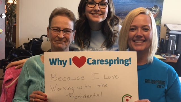 Carespring employees are passionate about providing top notch care for residents.