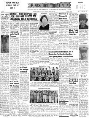 Entering its eighth decade, The Black Mountain News celebrates the people of the Swannanoa Valley with this feature recapturing a page from the past.