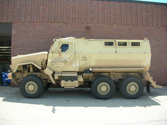 Brown Co-ambush protected vehicle