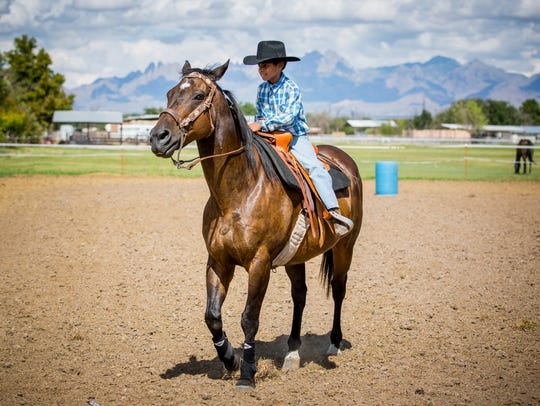 Rockin' Horse Riding Academy student Marcus Lujan,
