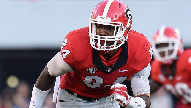 The Chicago Bears traded up to No. 9 for Georgia linebacker Leonard Floyd
