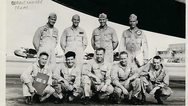 Paul Loria's VP-45 squadron at Corpus Christi, Texas, 1956.